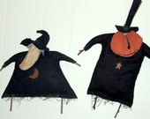 Delores and Pete, Primitive Folk Art Patterns for Halloween