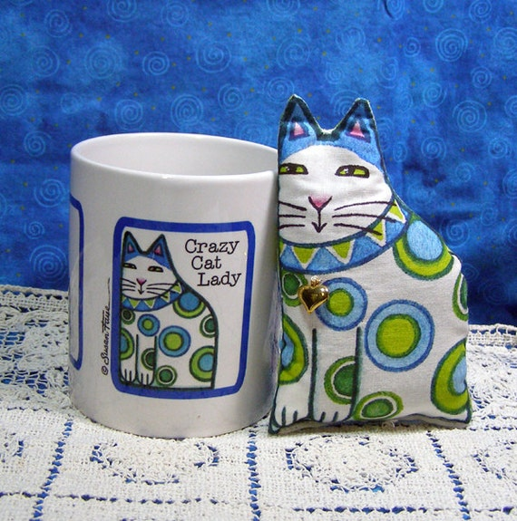 Crazy Cat Lady  Mug and Lavender Sachet Gift Set
