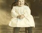 Apple of Her Father's Eye, Digital Photo Scan Instant Digital Download DP002
