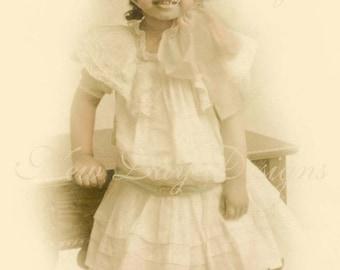 Miss Frances 1907, Victorian Photo Scan, Instant Digital Download, DP009