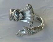 Vintage Wallace Romance of the Sea  Sterling Silver Spoon Ring  dmfsparkles