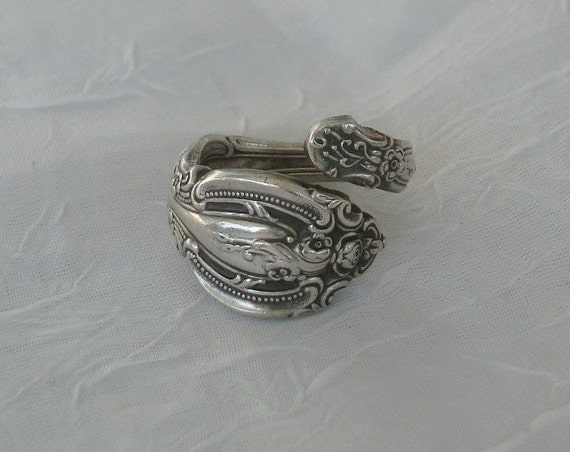 La Scala   Vintage Gorham Sterling Spoon Ring  dmfsparkles