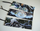 Motorcycles. Set of 3 Laminated Photo Bookmarks. Dreams of Sturgis and Port Dover