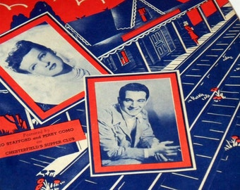 Vintage Sheet Music • Waitin' For The Train to Come In