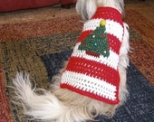 Dog sweater - O' CHRISTMAS TREE - tree has sparkle - 2 to 20 lb dog or cat