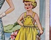 Vintage 50s Girls Sundress Pattern With Bib Front Sz 4 PDF File