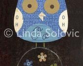 Oscar the Owl Print 8.5 x 11