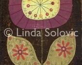 Pop Posie Dahlia Flower Print 8.5 x 11