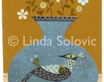 Midcentury Home Vase 1 Print 8.5 x 11