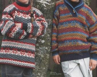 Sandnes Uldvarefabrik 9804 Smart Superwash No 3 Childrens Knitting Patterns