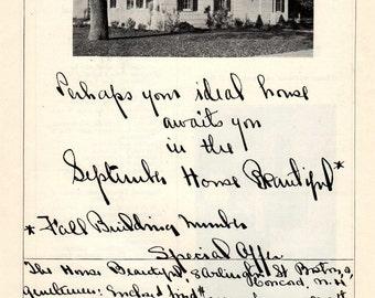 House Beautiful Magazine Print Advertisement 1925