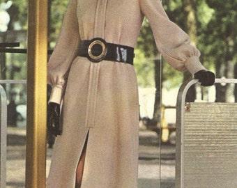 Vogue 2529 Vogue Couturier Designs Vintage 1970s Simonetta  A-Line Dress Pattern Size 12 Uncut