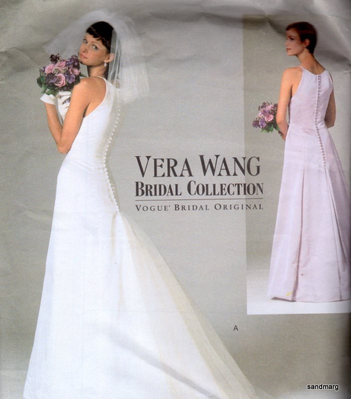 Vogue 2118 Vera Wang Bridal Collection Pattern Wedding Gown