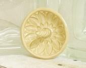 Ceramic Ring Holder Bowl Trinket Dish Yellow Sunflower