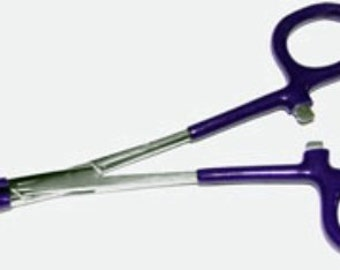 Self Locking Dipped/No Mar Curved Forceps