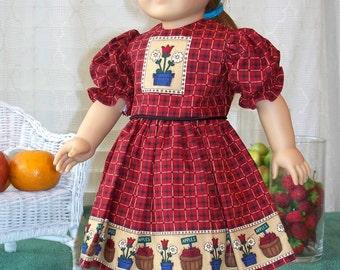 American Girl Doll Dress 18 inch doll dress Sundays Best