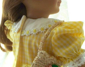 American Girl Doll Accessories Crochet School Bag for dolls Fits 18 inch doll or American Girl Doll