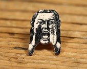 Can You Hear Me Now Tiny Pin - Yelling Man - Vintage Print - Shrink Plastic - Tie Tack - Speak No Evil - People - Quirky Jewelry - Funny
