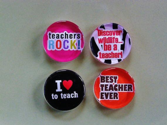 Teachers Rock Magnet Set in Gift Tin