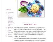 Easy Crochet Pattern PDF: Delia Daisy Amigurumi Charm or Child's Party Favor in Worsted Weight Yarn - Original Design by The Silver Hook