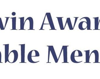 "Darwin Award Honorable Mention -- 11"" x 3"" Bumper Sticker"