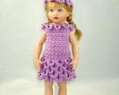 Crochet pattern for Kish Riley doll-petal dress