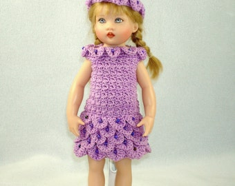 Crochet pattern for Kish Riley doll-petal dress