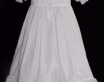 White Petticoat Dress with eyelet ruffles size 2-8