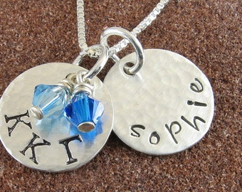 Sorority Necklace,Greek Letter Personalized Sterling Silver Pendant,Many Sororities Available/OLP