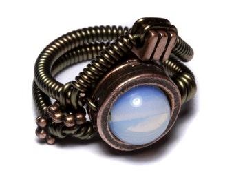 Steampunk Jewelry - Ring - OPALITE