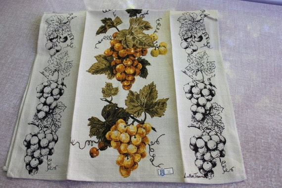Luther Travis Grape Dish Towel