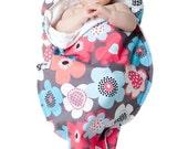 Modern Baby Blanket gift - Newborn NOONIE - Gray Gardens