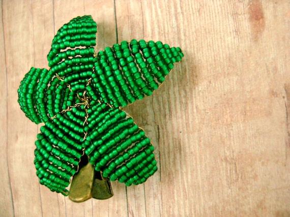 Cyber Monday Etsy Sale Hair Clip Flower Emerald Green  - Ododo Originals