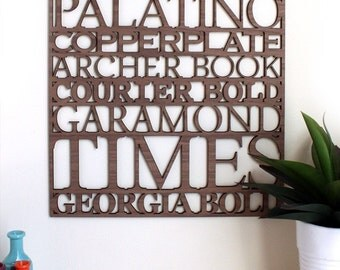 Serif Typography Wall Art