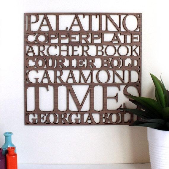 Serif Typography Wall Art
