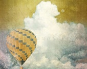 Clouds Print, Travel decor, modern decor, hot air balloon, air balloon decor, air balloon print, balloon print, travel prints, balloon