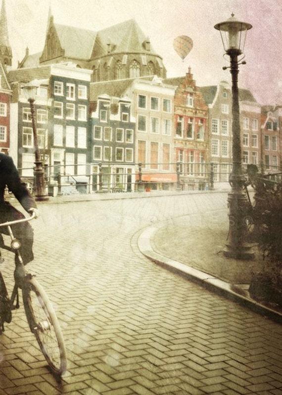 Bicycle Art,Bicycle,Bike Photograph,bike print,Bike Art,bike photo,hot air balloon,air balloon decor,bicycle wall art,amsterdam print