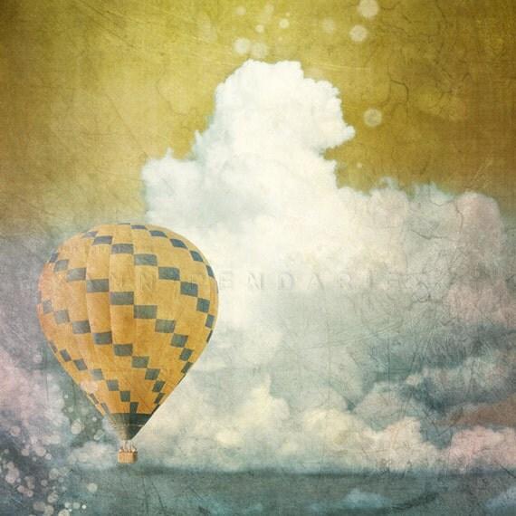 Nature photography, Landscape photography, Travel decor, modern decor, hot air balloon, Romantic Wall Art, Pastel colors