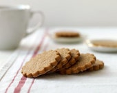 Brown Sugar Ginger Spice Shortbread Cookies - Tea Cookies, Shortbread