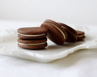 Chocolate Earl Grey Sandwich Cookies, White Chocolate Filling, Earl Grey Tea Cookie