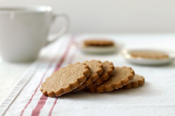 Brown Sugar Ginger Spice Shortbread Cookies - Gourmet Tea Cookies, Shortbreads