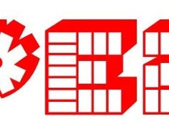 PEZ Logo Vinyl Decals ,  SET OF 4 ,   You choose colors