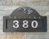 Craftsman Ginkgo ADDRESS PLAQUE Arts and Crafts House Numbers