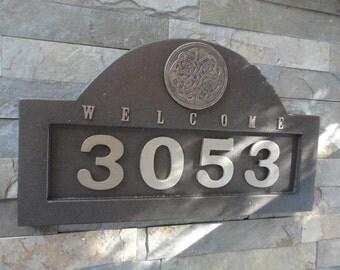 Celtic House Numbers Irish ADDRESS PLAQUE Large