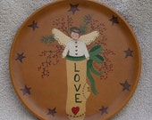 Love Angel Stocking Plate by Leslie Berg FREE SHIPPING