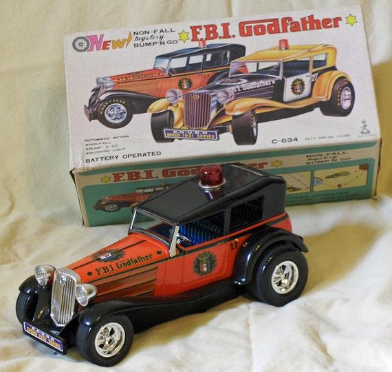 VINTAGE F.B.I. Godfather Non Fall Mystery Bump N Go Car C-634