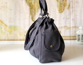 Practical Nagy Bag in Dark Grey -Large- Holiday Gift / For Her / For Him / For Men / Christmas / Xmas / Charcoal