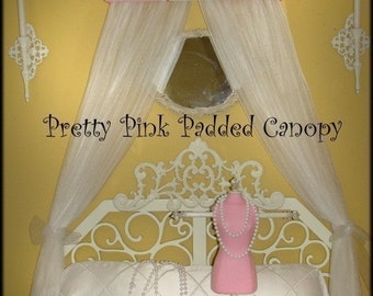 Personalized Embroidered Crown Canopy Bed Monogram Princess Pretty Pinks FREE SaLe Twin Full Valance Teester So Zoey Boutiquewall hanging