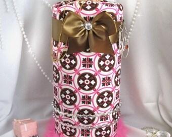 Pink Brown Princess Trendy Hair bow Headband Hair Necklace accessory Organizer SaLe