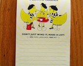 French Chicks Notepad - She's SO Creative